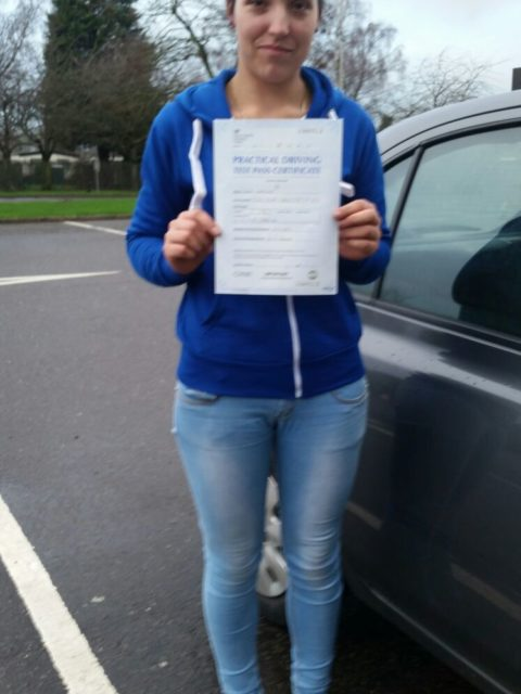 Laura Passed with 25 hours training